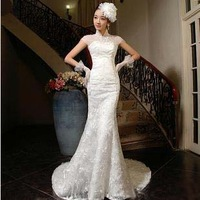 low price 2013 new fashion mermaid wedding dresses