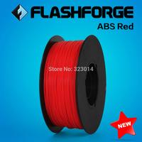Flashforge 3D Printer ABS red, diameter 1.75mm filament .