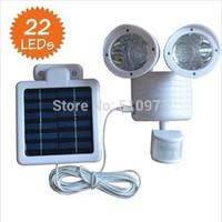 22 LED wall mounted Motion Sensor light Solar outdoor PIR sensor Light  garden wall sensor solar lamp solar panel light