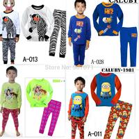 Retail 2014 New  Kids Pajamas 100% Cotton Cartoon Style Baby Girl Sleepwear 2-7Y 2pcs/set