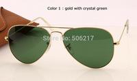 new top quality original aviator sunglasses 3025 L0205 58mm 62mm men women brand name fashion sunglasses in original box case