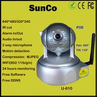480P Eexternal alarm/FTP/MJPEG  wireless IP Dome camera With IR(540C)