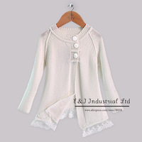 Newest Stlye Baby Girls Autumn And Winter Sweater White Cotton Knitted Outwear Infant Wear Girls Halloween Clothing Hot Seller