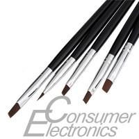1set 5pcs Dotting Draw Paint Tool Nail Art Acrylic UV Gel Salon Flat Brush Pen Set Newest