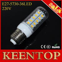 Brand Quality  E27 220V Led Light Corn Lamp  Energy Efficient Ball Bulbs Smd5730 36LEDs 12W  Spotlight Ceiling Downlight