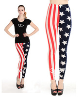 American Flag Vertical stripes and Stars Print Cheap Leggings For Women Hot Sales and Free Shipping