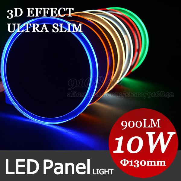 Neue und sehr gut 3d-effekt-panel beleuchtung 10w 130mm runde professionelle licht für kommerziellen licht büro licht, sehen Sie hier mehr