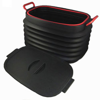 Retractable Large bucket car storage box car trunk storage box car glove box finishing box