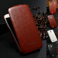 Luxury Vintage Business Man PU Leather Flip Case for Samsung Galaxy S4 i9500 S IV Mobile Phone Bag Cover Stylish Style
