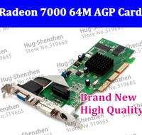 Free shipping New High Quality Radeon7000 64M DDR AGP DVI/VGA/TVO video card Graphic card