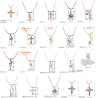 A13 // Big promotion wholesale fashion jewelry Chain 18k gold plated Necklace, Factory Price hot sale Crystal Pendant Necklace