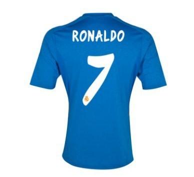 free shipping top thailand Ronaldo #7 Real Madrid away shirt 2013/14 top Thailand Football Shirts 100% as same official(China (Mainland))