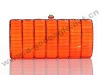 High quality orange design crystal wedding evening bag,crystal handbags for favors ladies U0045