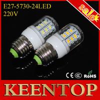 220V Led Corn Bulbs Pendant Light Energy Efficient E27 SMD5730 24Leds Wall Lamps 7W High Lumen Chandelier Spotlight 6Pcs