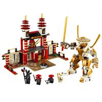 Hot Toy Ninjago Temple of Light Building Blocks Educational Assembling Blocks Toys for Boys Compatible Gift