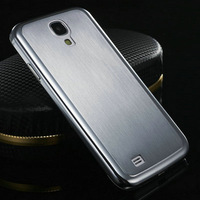 S4 0.5MM Thin Brushed Aluminum Case For Samsung Galaxy S IV i9500 Luxury Back Cover 100% Titanium Steel Free Screen Flim