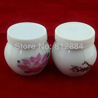 Circular Chinaware Ceramic Crystal Bowl Cup Acrylic Liquid Dappen Dish with Cover Nail Art Tool T434
