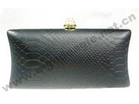 Free shipping crocodile leather black red blue green clutch evening bag clutches party leather bag