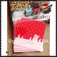 50 pieces Chirstmsn cute glue bag 10cm*11+3cm 2 deisgns