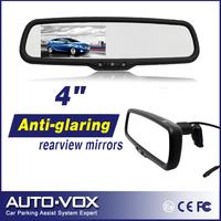 "4"" Color Car Monitor TFT LCD Display Car Parking  sensor Rear View Mirror  Auto Adjust Brightness"