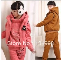2013  Fall/Winter Children's Clothing Girls Boys Suit Clothes Kids Three-piece track suits  children's leisure Sports Suits