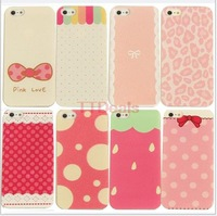 Free Shipping 20 Style Pattern Protective Back Cover Hard Case for iPhone 5/5S Wholesale