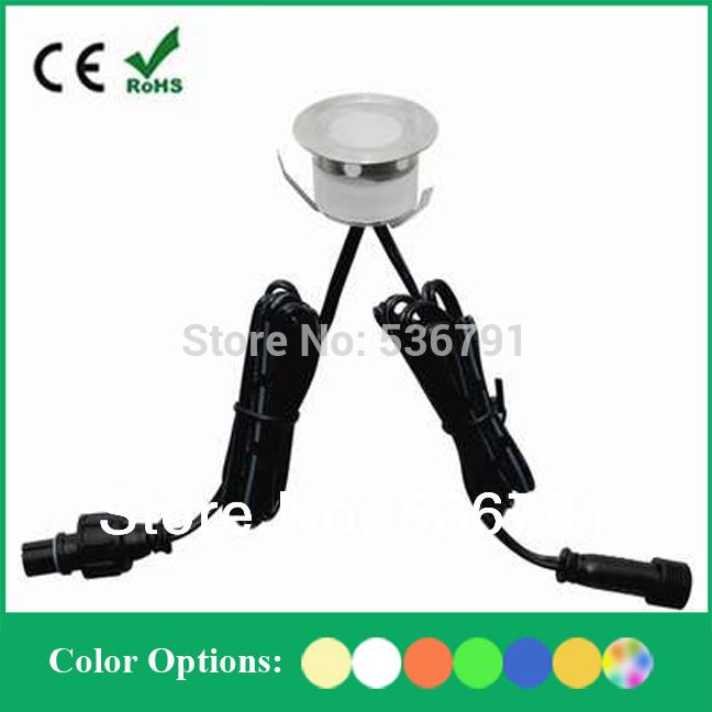 Free shipping IP67 30MM Mini LED Deck Lights Kits For Outdoor: 6pcs Decking Light 1pc 8W IP67 LED Driver (SC-B105B)(China (Mainland))
