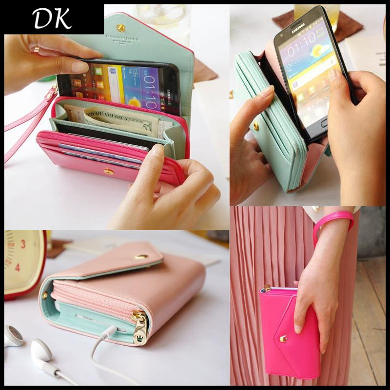 Promotion!2014 new multifunction women wallets, Coin Case purse for iphone,Galaxy.case iphone 4/5 wallet(China (Mainland))