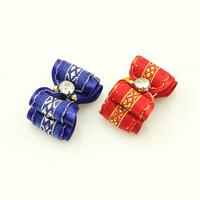 Armi store Handmade  Pet Dog Grooming Accessories 21043 Mini Cute Rhinestone Ribbon Hair Bow  Equipment.