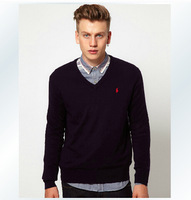 Hot-selling Men's Casual Sweater Thick Thermal V-neck Sweater Men High Quality Free Shipping