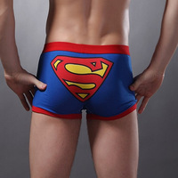 Free Shipping Men's Underwear Wholesale Hot Sale Male Cartoon  Shorts 100% Cotton Panties Briefs Personalized Super Man