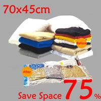 2014 New 10 pcs/lot Top Quality Closet Organizer Vacuum Storage Bags for Clothes 70*45cm AY003 Wholesale