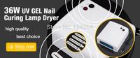 1Pcs 4 x 9W Lamp Tubes White UV Curing Gel 220V Light Dryer for Nail Art for Women Lady EU Plug