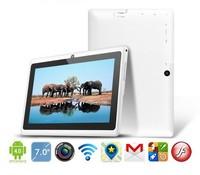 7 inch tablet pc with Allwinner A13 1.5GHz Processor speed 512MB RAM 4GB HDD dual digital Camera Free shipping  WT-3388