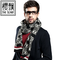 New2013autumn-winter print scarf fashion style warm thicken brown letter business scarf shawl hijab muffler cape infinity   25OA