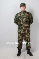 Woodland camo -Camouflage suit sets Army Military uniform combat Airsoft uniform -Only jacket & pants