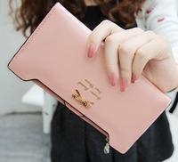2013 new Korean bow Ms. Long women wallet more card lady purse Drop free shipping WBG0717