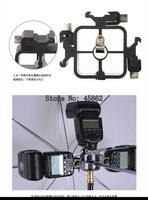 3 Triple Head Hot Shoe Flash Stand Adapter/Bracket/Mount Trigger/umbrella holder