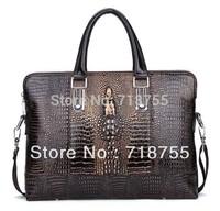 Leather new arrival crocodile pattern man bag fashion personality bag Shoulder Bags cross-body handbag briefcase Free shipping