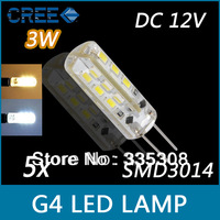 High quality SMD3014 3W DC12V G4 LED Lamp Replace 30W halogen lamp 360 Beam Angle LED Bulb light Free shipping