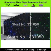 Free shipping 3x4m black or white curtain rgb led curtain fabric