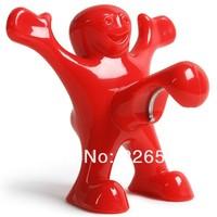 Free shipping 1Piece Happy Man Bottle Cap Opener (Red/Balck-U Choose)