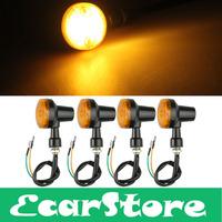 4pcs Motorcycle Motorbike Turn Signal Light Bulb Indicator Amber LED Lights 12V
