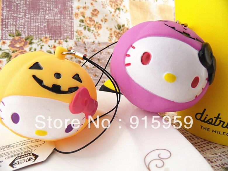 hello-kitty-Halloween-pumpkin-Cellphone-Charm-Original-tag-package-PVC ...