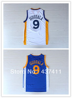 Golden State #9 Andre Iguodala white blue  Rev 30 Embroidery Lgos Basketball jersey