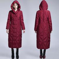 Long Maxi Down Puffer Coat Women Down Parkas Hooded Winter Jacket Women 2014 Winter Coat Women Thickening Duck Down Jackets 882