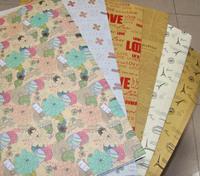 G101 25Pcs 6 Designs Vintage Eiffel Tower Newspaper Love Kraft Package Paper 520*750mm Gift Decoration Handmade DIY Material