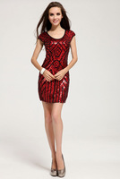 Free Shipping wholesale evening dresses new fashion black dress superstar diamond dresses evening short LM6020ES