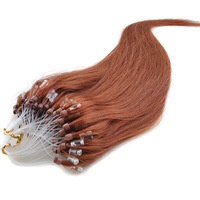 ZHMR 30 50g 100pcs/pack Remy Micro Ring Loop Hoop 100% Real Natural Human Hair Extension medium auburn color