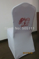 Free shipping standard white spandex chair cover with LOGO ( white)